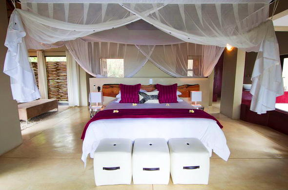 The Impala Lily Suite offers chic and cosy accommodation.